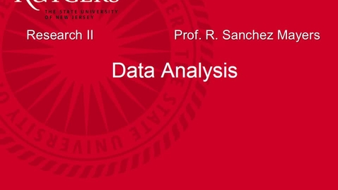 Thumbnail for entry MSW 595 Data Analysis Lecture