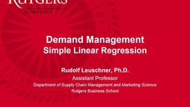 Thumbnail for entry Demand Management - Simple Linear Regression.mp4