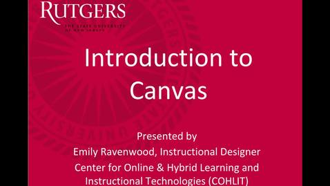Introduction to Canvas