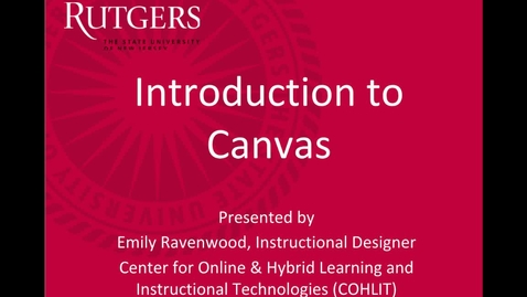 Thumbnail for entry Introduction to Canvas