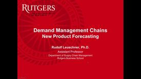 Thumbnail for entry New Product Forecasting