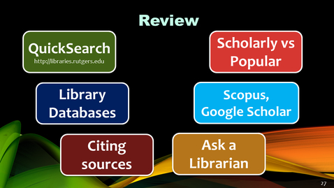 Thumbnail for entry Library resources for transfer students (STS) - 2018