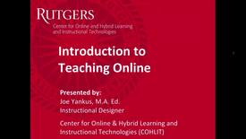 Thumbnail for entry Intro to Teaching Online