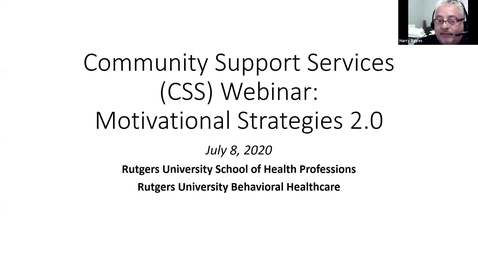 Thumbnail for entry Motivational Interviewing for CSS 2.0 Learning Application July 8 2020