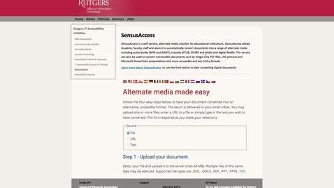 Thumbnail for entry SensusAccess