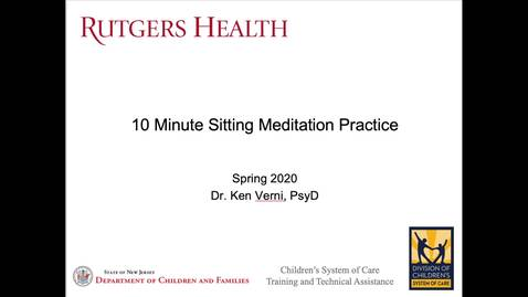 Thumbnail for entry 10 Minute Sitting Meditation