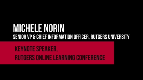 Thumbnail for entry Michele Norin on online learning in higher education