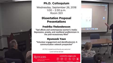 PhD Colloquium Fredrika Thelandersson and Hyunsook Youn