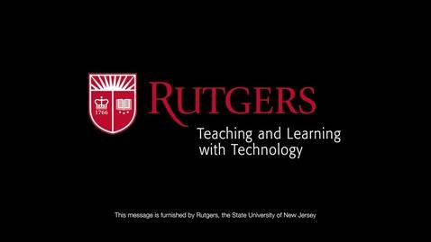 Thumbnail for entry Teaching Online Video Part I