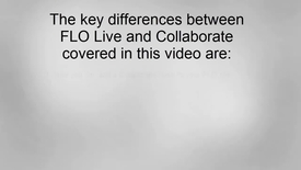 Thumbnail for entry Transitioning to Collaborate from FLO Live