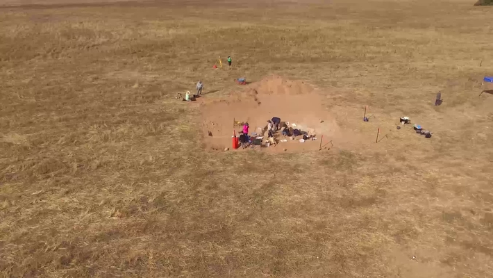 Drone video of Susan Arthure's archeological site