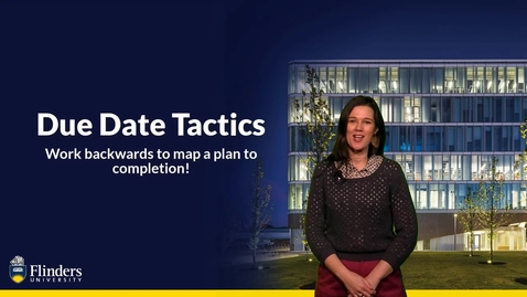 Thumbnail for entry Time Management  - Due Date Tactics