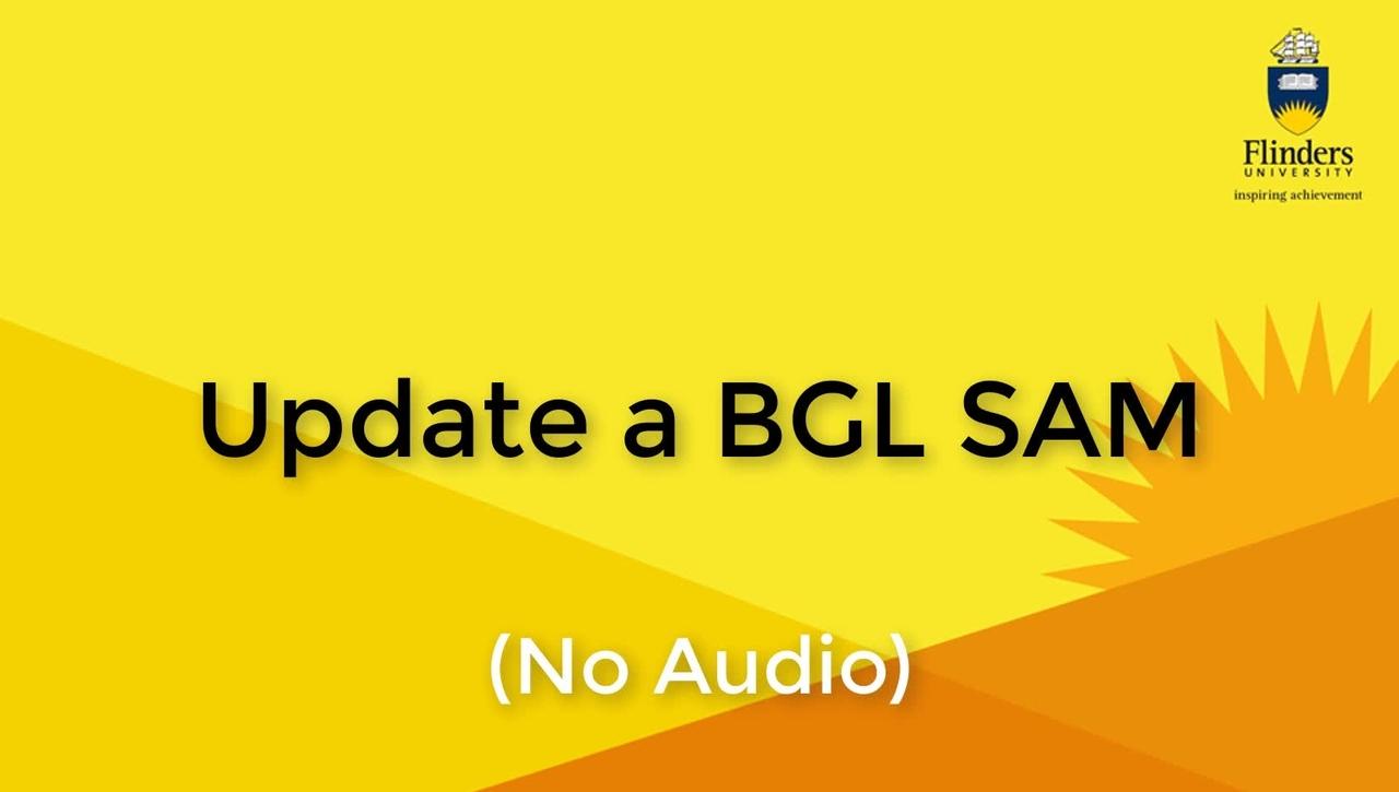Update a BGL SAM (No Audio)