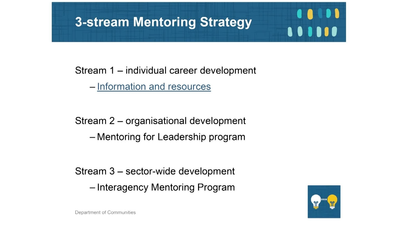 Mentoring 3 - Communities 3-stream strategy
