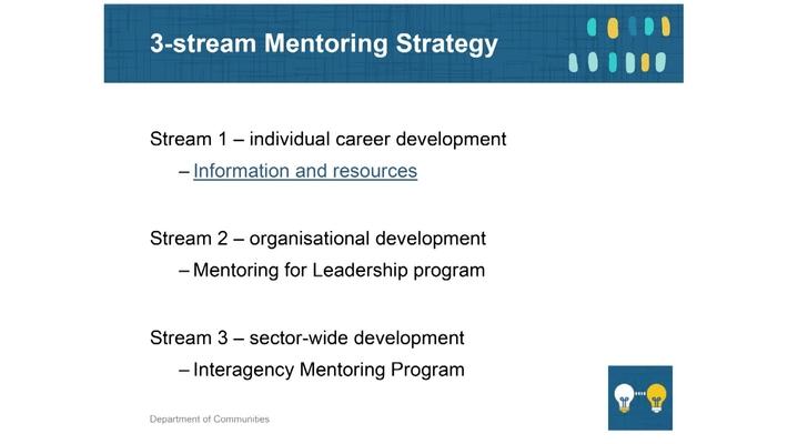 Mentoring 3 - Communities 3-stream strategy