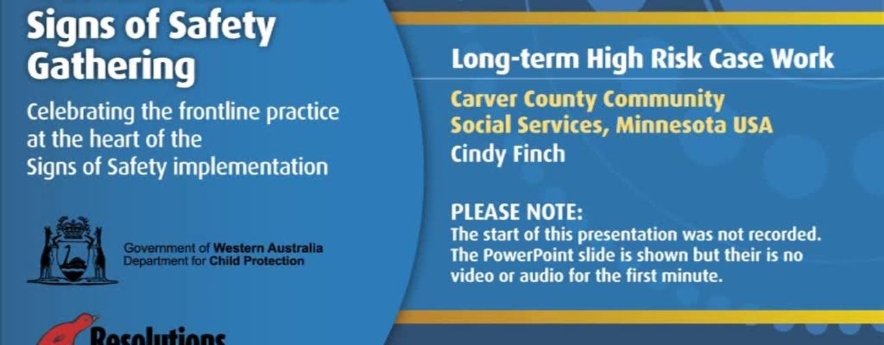 2011SSG - Day 3 - Carver County Community Social Services, Minnesota USA - Long-term, High Risk Case Work
