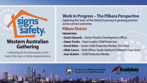 Thumbnail for entry 15 - Work in Progress - Pilbara