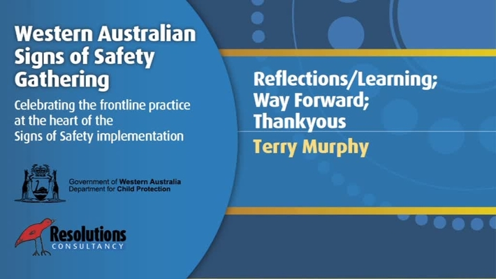 2011SSG - Day 3 - Terry Murphy - Reflections, Learning, Way Forward