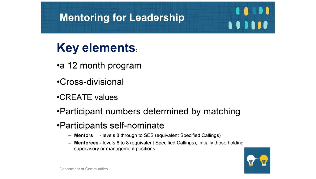 Mentoring 4 - Mentoring for Leadership Program