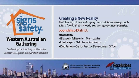 Thumbnail for entry 16 - Creating a New Reality - Joondalup