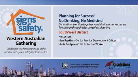 Thumbnail for entry 17 - Planning for Success - South West