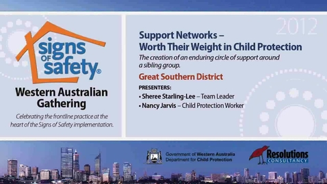 Thumbnail for entry 6 - Support Networks - Great Southern