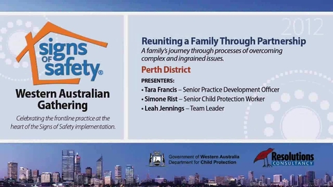 Thumbnail for entry 26 - Reuniting a Family - Perth