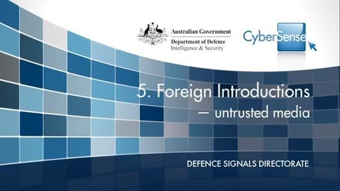 Thumbnail for entry CyberSense 5: Foreign introductions