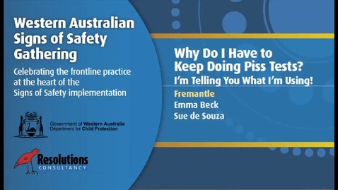 Thumbnail for entry 2011SSG  - Day 1 - Fremantle - Why Do I Have to Keep Taking Piss Tests?