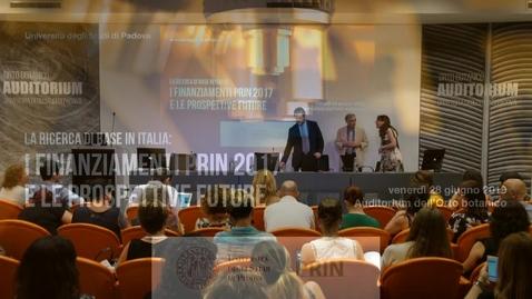 Thumbnail for entry La ricerca di base in Italia: i finanziamenti Prin