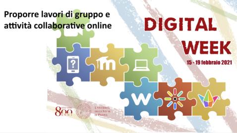 Thumbnail for entry Proporre lavori di gruppo e attività collaborative online