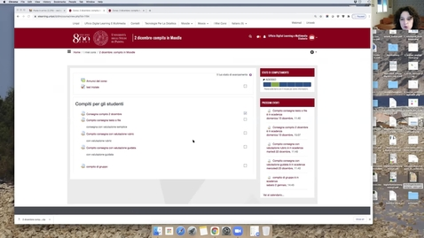 Thumbnail for entry Moodle: creare attività di consegna per lo studente e per gruppi con il modulo Compito