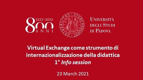Thumbnail for entry Information session on 'Virtual Exchange', 22 March 2021