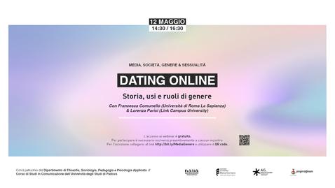 Thumbnail for entry Dating online: storia, usi e ruoli di genere - Francesca Comunello (Università di Roma La Sapienza) e Lorenza Parisi (Link Campus University)