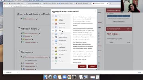 Thumbnail for entry Attività per la valutazione in Moodle e introduzione al Registro Valutatore