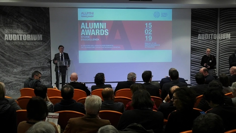 "Thumbnail for entry  ""Alumni Awards. Storie di Eccellenza"""