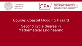 "Thumbnail for entry Presentation of the course on ""Coastal Flooding Hazard"""