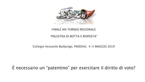 Thumbnail for entry Finale del XIII Torneo regionale di Dibattito Palestra di Botta e risposta  2019