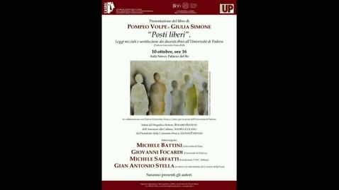 Thumbnail for entry Posti liberi. Leggi razziali e sostituzione dei docenti ebrei all'Università di Padova