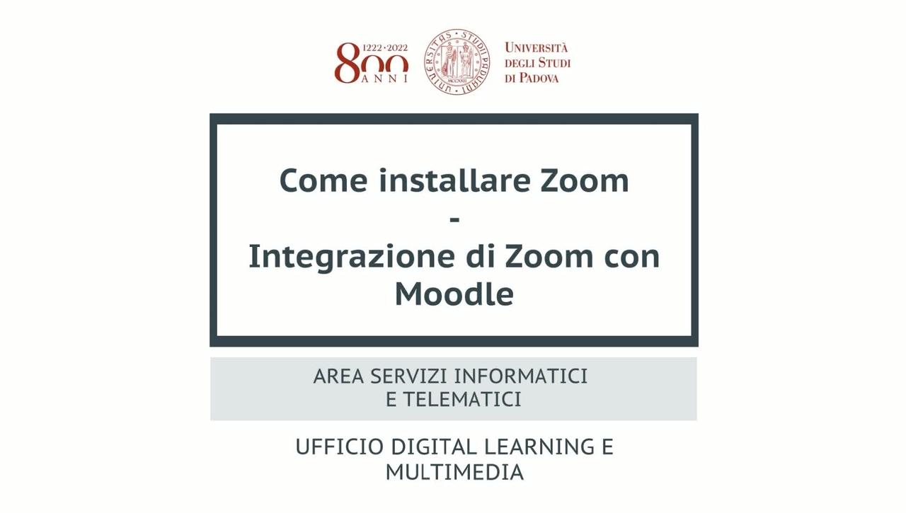 Zoom e Moodle