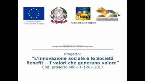 Thumbnail for entry L'innovazione sociale e le Società Benefit - I valori che generano valore 3 minuti