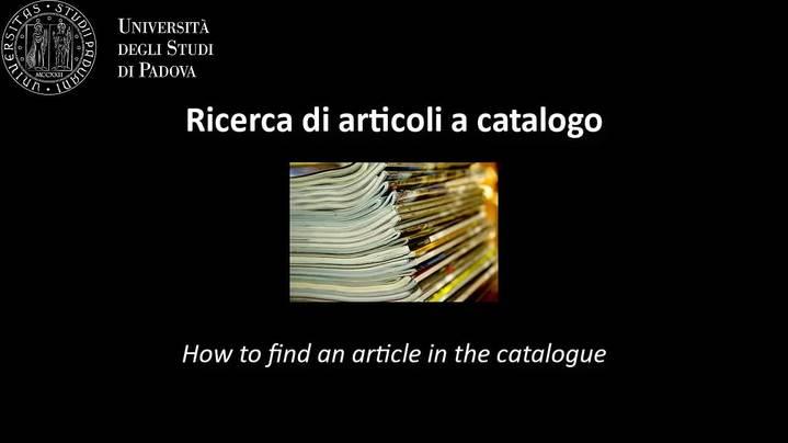 Thumbnail for channel ABC della ricerca bibliografica per la chimica