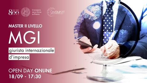 Thumbnail for entry Open Day Master MGI - Giurista internazionale d'impresa - 22/09/20