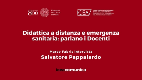 Thumbnail for entry Iceacomunica intervista il Professore Salvatore Pappalardo