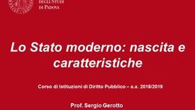 Thumbnail for entry Lo Stato moderno: nascita e caratteristiche (05.10.2018)
