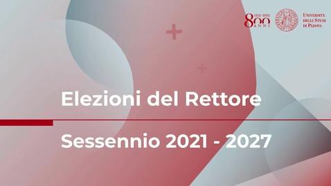 Thumbnail for entry Elezioni del Rettore per il sessennio 2021 - 2027