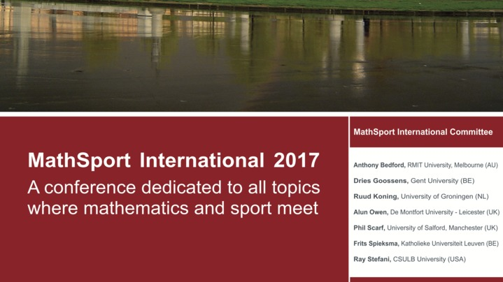 Thumbnail for channel MathSport International 2017 Conference