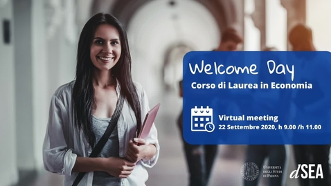 Thumbnail for entry Welcome Day Corso di Laurea in Economia (TrEC) A.A. 2020/21