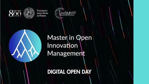 Thumbnail for entry Open Day Master MOIM - Open Innovation Management