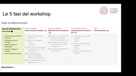 Thumbnail for entry Incontro su: La valutazione tra pari con il Workshop in Moodle